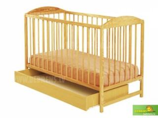 Детская кроватка KUBA II из натуральной сосны120x60cm