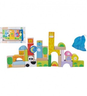 деревянные кубики ЗВЕРЯТА, E01.035.1.1