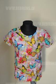 Trikotāžas T-krekls meitenēm ar īso piedurkni art.19623 LIINE