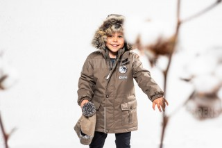 Куртка парка зимняя на мальчика art.19339 Wolf